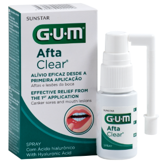Sunstar GUM - GUM® AftaClear Spray - Mouth ulcer treatment for hard-to-reach areas